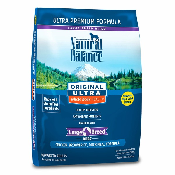Natural Balance Original Ultra Whole Body Health Large Breed Chicken Brown Rice & Duck Meal Dog Food