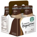 Starbucks Frappuccino Chilled Coffee Drink, Mocha, 9.5 Fl Oz, 4 Count