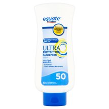 Equate Ultra Protection Sunscreen Lotion Broad Spectrum, SPF 50, 16 Oz