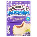 Smucker's Uncrustables Peanut Butter & Grape Jelly Sandwich, 2 oz, 4 count