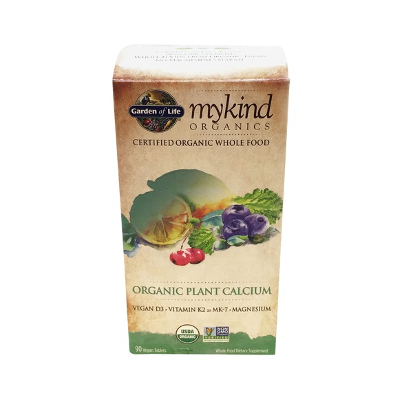 Garden of Life MyKind Organics Organic Plant Calcium Dietary Supplement Tablets