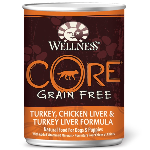 Wellness Core Grain Free Turkey, Chicken Liver & Turkey Liver Natural Canned Dog Food