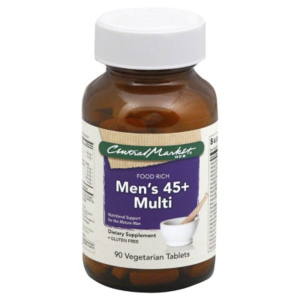 Central Market Men's 45+ Multi Food Rich Vegetarian Tablets