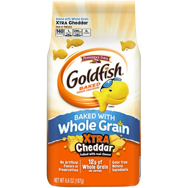 Pepperidge Farm Goldfish Baked with Whole Grain Xtra Cheddar Baked Snack Crackers