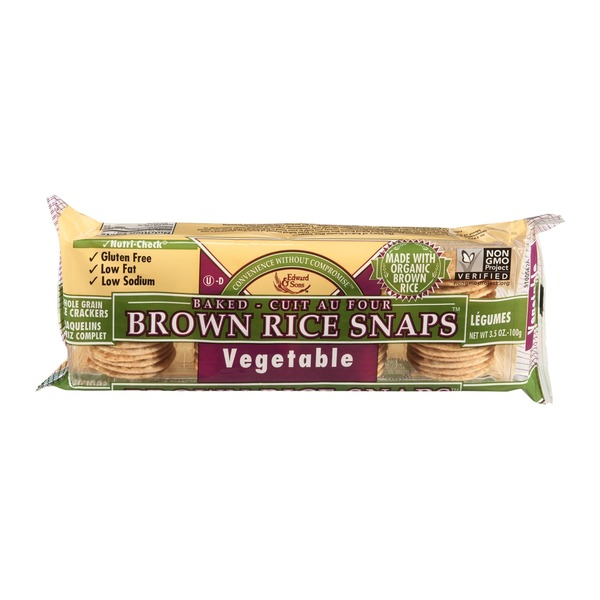 Edward & Sons Baked Brown Rice Snaps Vegetable