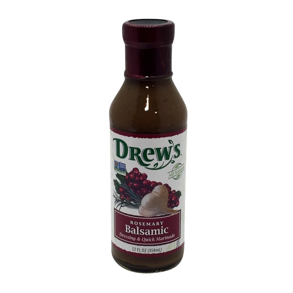 Drew's Rosemary Balsamic Salad Dressing & Quick Marinade