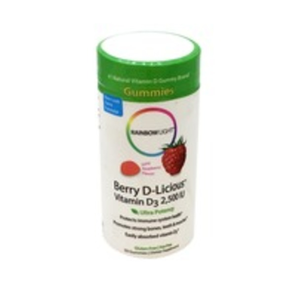 Rainbow Light Vitamin D3 2500 IU Berry D-Licious Gummy Ripe Raspberry
