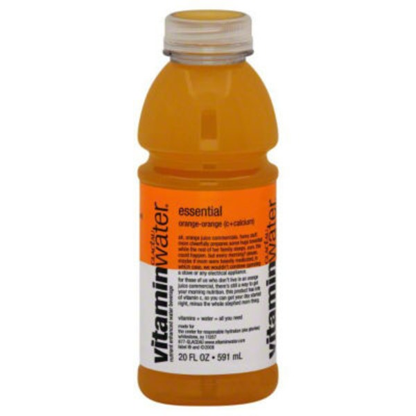 Glaceau Vitaminwater Vitaminwater Nutrient Enhanced Essential Orange Orange Water Beverage