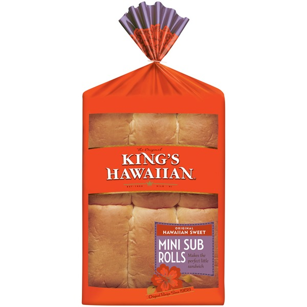 King's Hawaiian Original Hawaiian Sweet Mini Sub Rolls