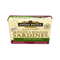 Crown Prince Wild Caught Skinless & Boneless Sardines Packed in Pure Olive Oil