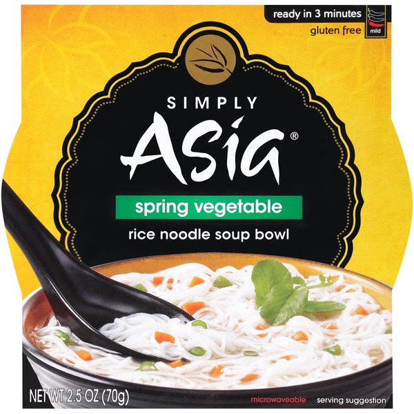 Simply Asia Spring Vegetable Rice Noodle Soup Bowl
