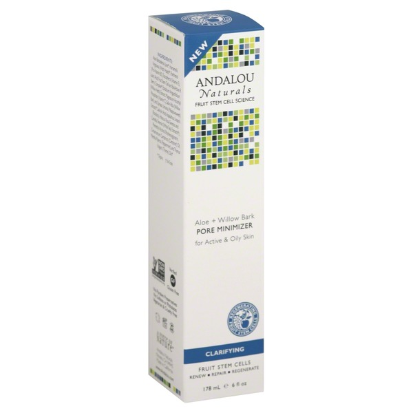 Andalou Naturals Pore Minimizer, Aloe + Willow Bark, for Active & Oily Skin