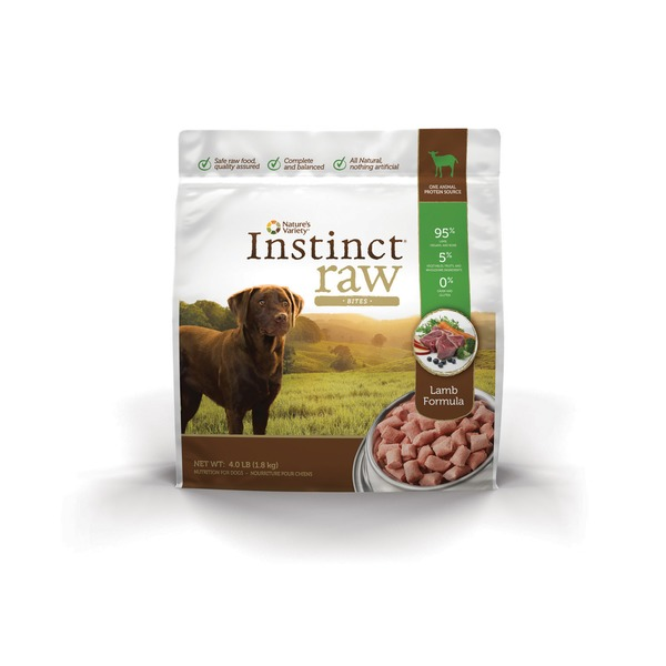 Nature's Variety Instinct Raw Lamb Bites Frozen Pet Food