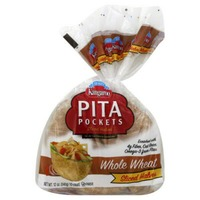 Kangaroo Sliced Halves Whole Wheat Pita Pockets