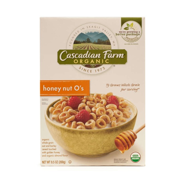 Cascadian Farm Organic Honey Nut O's Cereal