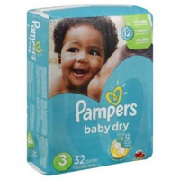 Pampers Baby Dry Pampers Baby Dry Diapers Sz 3 Jumbo Pack 32 Count Diapers