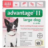 Advantage II Large Dog 21-55 lbs Start Working Through Contact Flea Killer