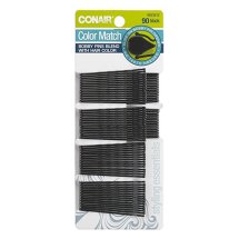 Conair Styling Essentials Bobby Pins, Black, 90 count