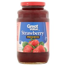 Great Value Strawberry Preserves, 32 oz
