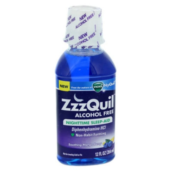 Zzzquil Nighttime Sleep-Aid Alcohol Free Liquid 12 fl oz  Misc Personal Health Care