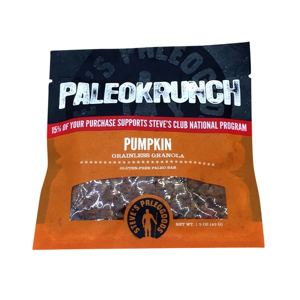 Steves Paleogoods Paleokrunch Pumpkin Grainless Granola Bar