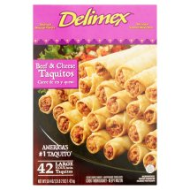 Delimex Beef & Cheese Large Flour Taquitos, 42 count, 50.4 oz