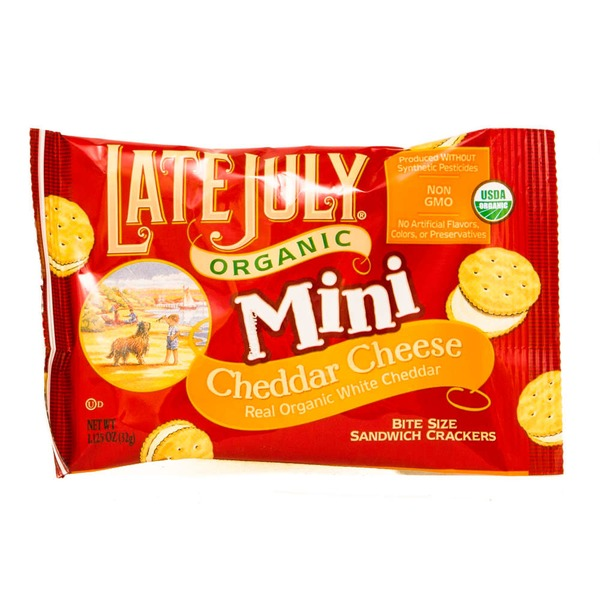 Late July Organic Mini Cheddar Cheese Crackers