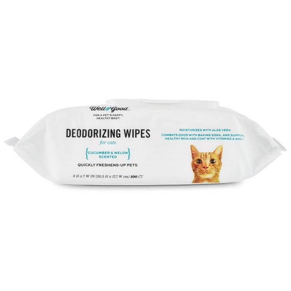 Well & Good Cat Deodorizing Wipes