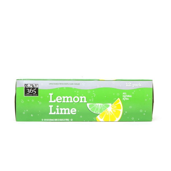 365 12 Pack Lemon Lime Soda
