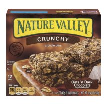 Nature Valley Granola Bars, Crunchy, Oats and Dark Chocolate, 6 Pouches - 1.5 oz, 2-Bars Per Pouch (Total 12 Bars), 1.49 OZ