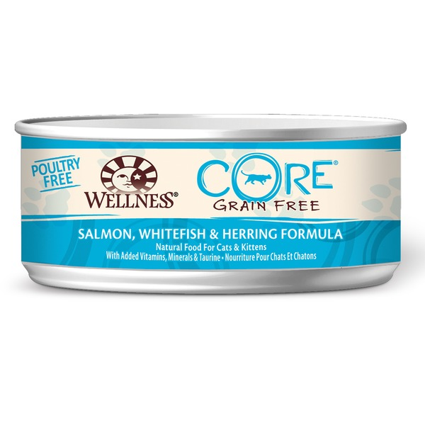 Wellness Core Salmon Whitefish & Herring Canned Cat Food