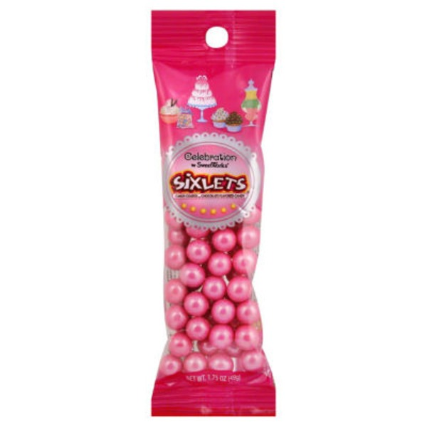 Celebration Sixlets Bright Pink Pouch