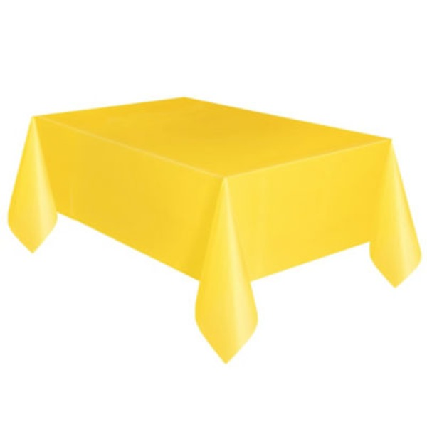 Unique Solid Yellow Plastic Table Cover