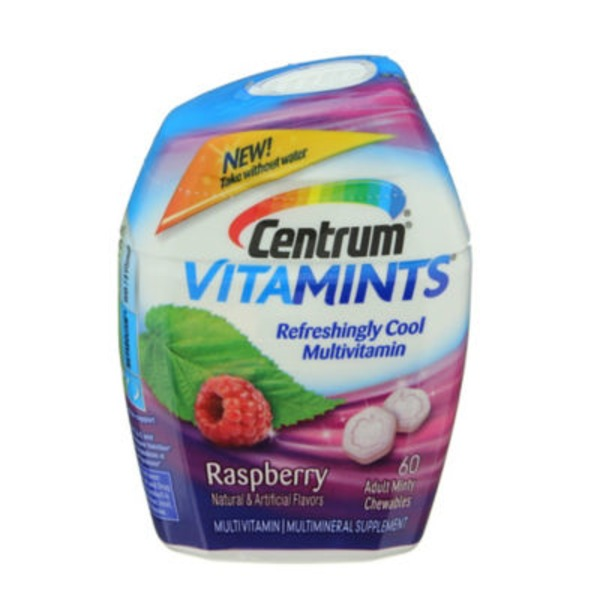 Centrum VitaMints Raspberry Adult Minty Chewables Multivitamin/Multimineral Supplement