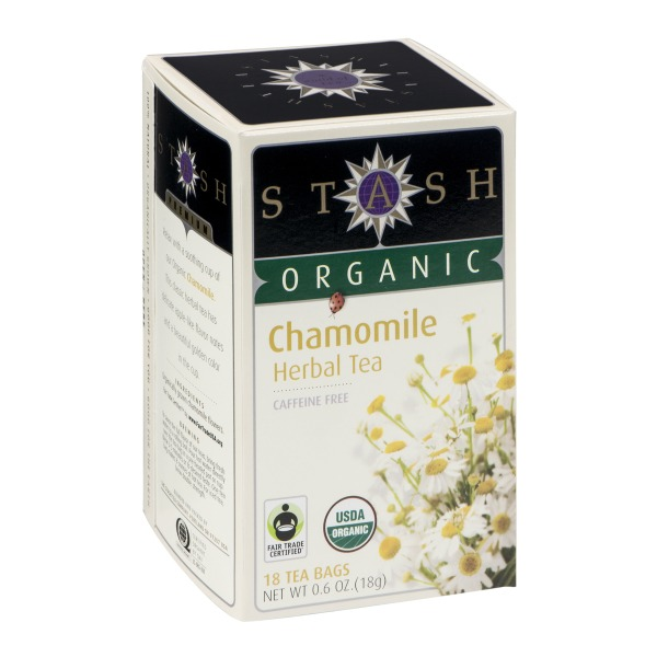 Stash Tea Organic Herbal Tea Caffeine Free Chamomile