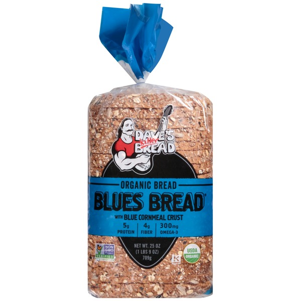 Dave's Killer Bread Organic Blues with Blue Cornmeal Crust Bread