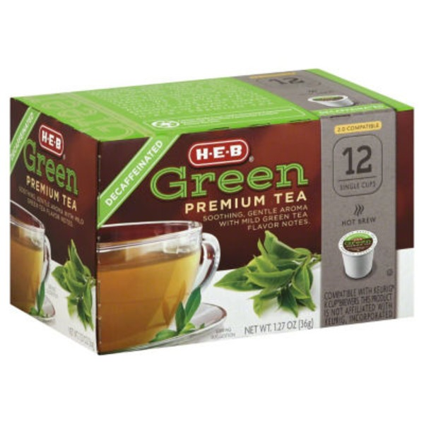 H-E-B Decaf Green Premium Tea Single Cup