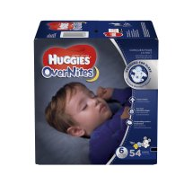 HUGGIES OverNites Diapers, Size 6, 54 Diapers
