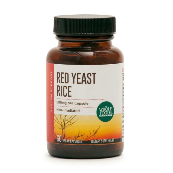 Whole Foods Market Red Yeast Rice 600 Mg Vegan Capsules