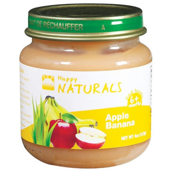 Happy Naturals Apple Banana 2nd Foods Baby Food