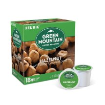 Green Mountain Coffee Hazelnut Keurig Single-Serve K-Cup pods, Light Roast Coffee, 18 Count