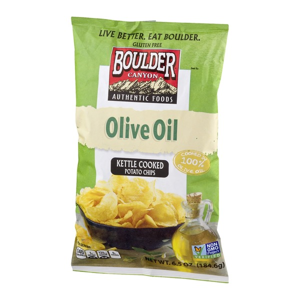 Boulder Canyon Authentic Foods Olive Oil Kettle Cooked Potato Chips Sea Salt
