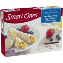 Smart Ones® Tasty American Favorites Breakfast Wrap Egg, Sausage & Cheese 8 oz. Box