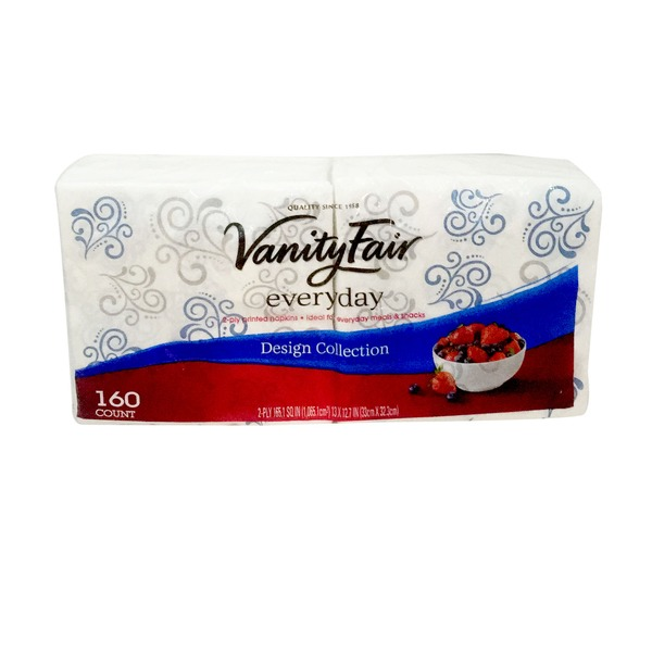Vanity Fair Napkins, 2-ply Printed, Design Collection