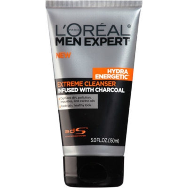 Men's Expert Extreme Cleanser Infused With Charcoal  Hydra Energetic