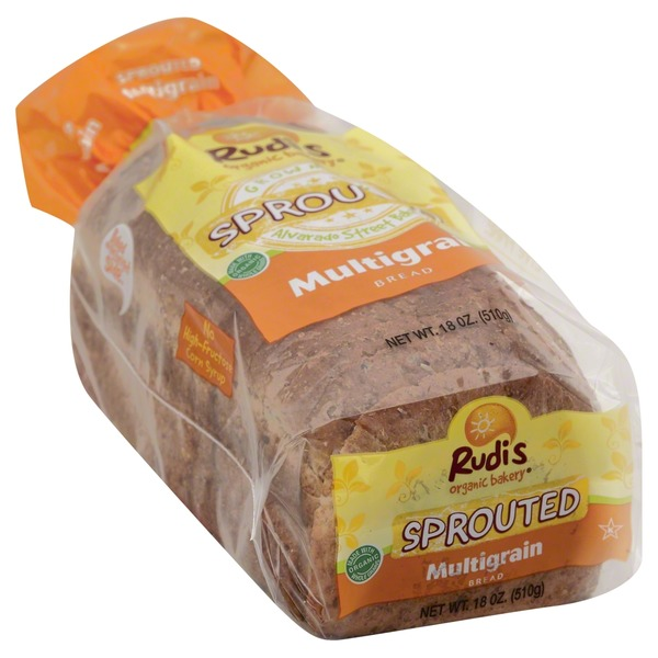 Rudis Bread, Sprouted, Multigrain