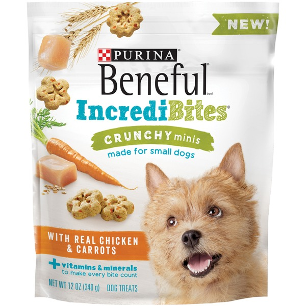 Beneful Treats IncrediBites Crunchy Minis with Real Chicken & Carrots Dog Treats