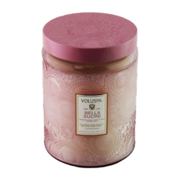 Voluspa Japonica Collection, Large Embossed Jar Candle, Bella Sucre