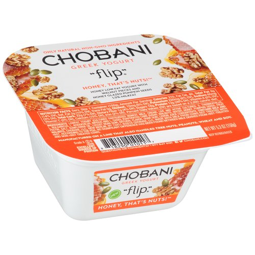 Chobani Greek Yogurt Flip Honey That's Nuts! Low Fat Yogurt