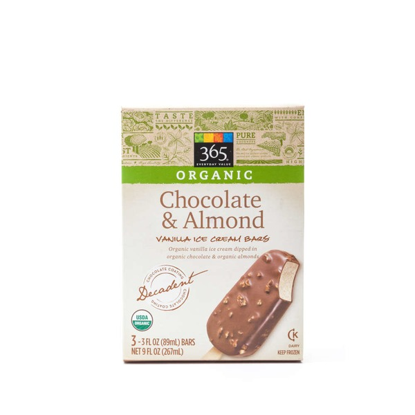 365 Organic  Chocolate & Almond Vanilla Ice Cream Bars
